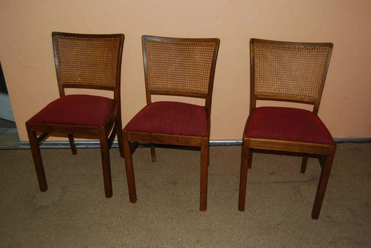 Drei Gepolsterte 20er Jahre Stühle Eiche H   Stühle U0026 Sitzbänke   Bild 1 1
