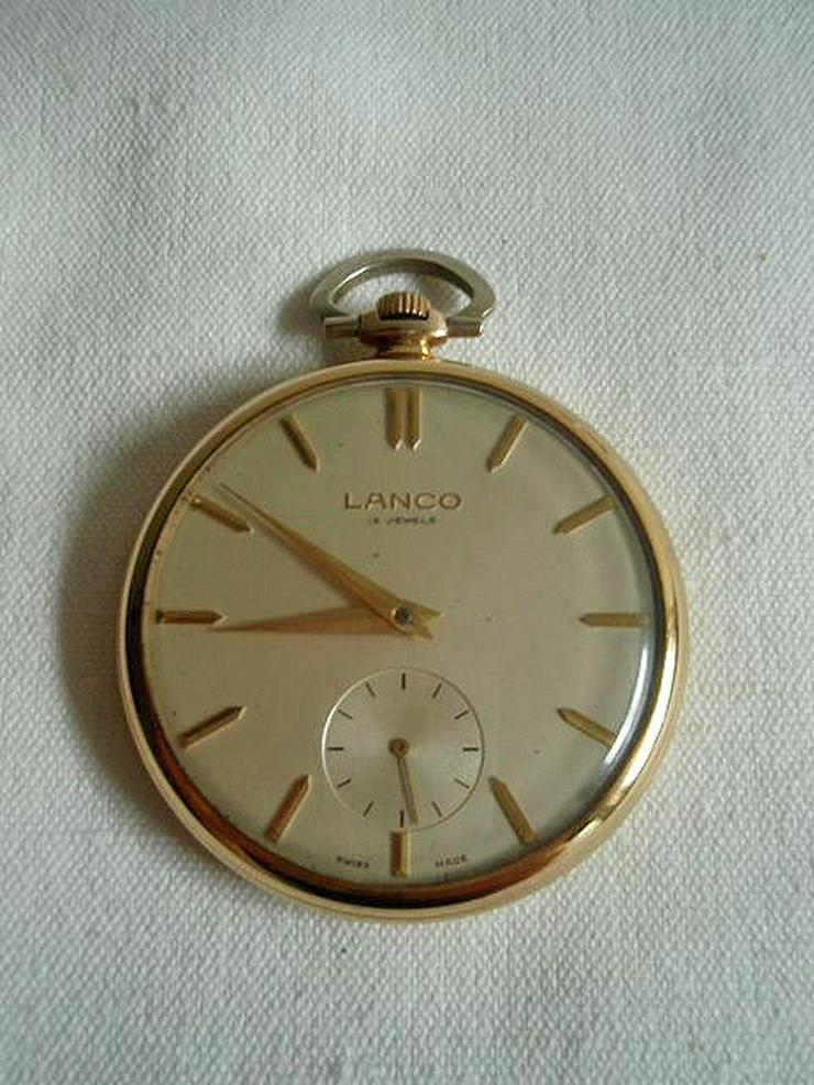 Seltene Taschenuhr v. Lanco - ca. Jahr 1950