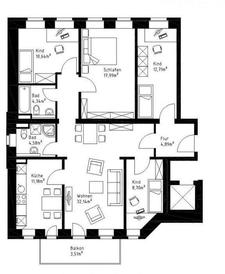 Bild 5: 4-Raum-Wohnung in Leipzig Gohlis!