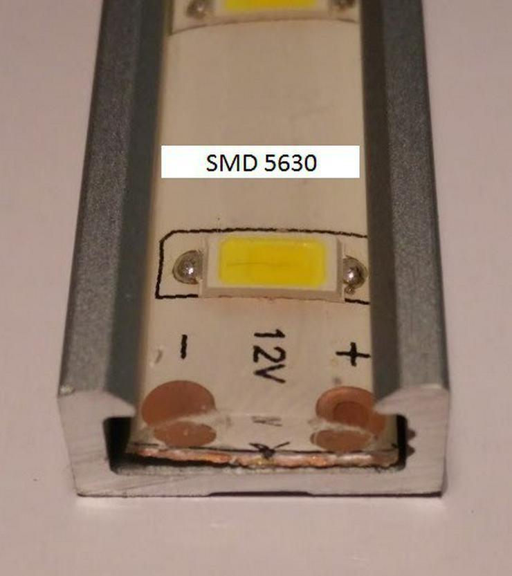 Bild 6: 1m Alu Profil LED inkl. transparente Abdeckung