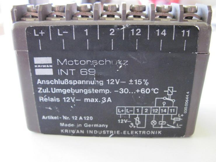 Motorschutz Fa. Kriwan Modell INT 69