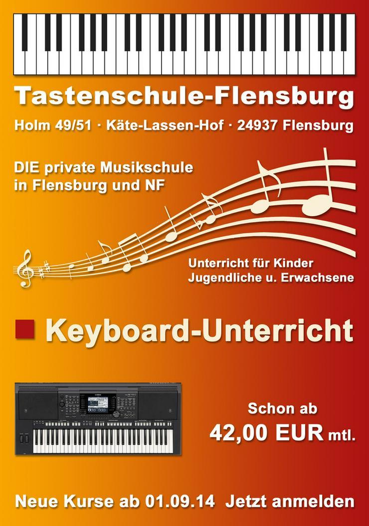 Keyboard-Unterricht ab 45 EUR mtl. in Flensburg - Instrumente - Bild 1