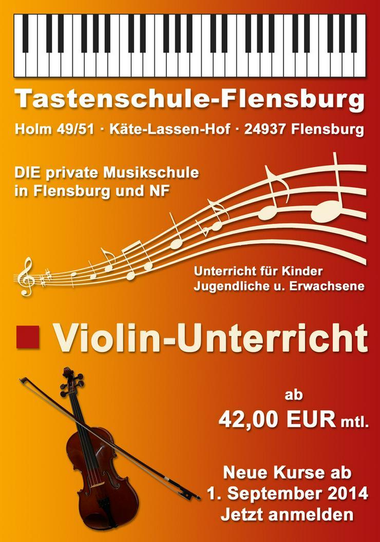 Violin-Unterricht ab 45.- EUR mtl. in Flensburg - Instrumente - Bild 1