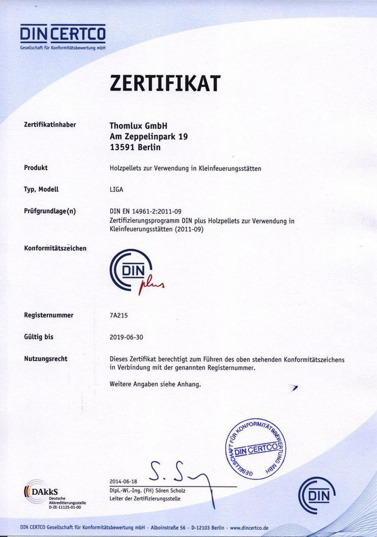 Bild 3: Holzpellets DINplus LIGA15kg Sack ab 3,39 Euro