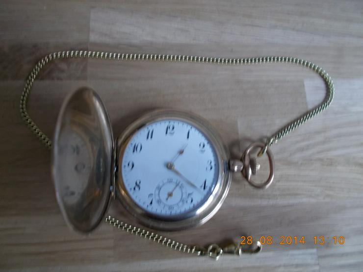 Bild 2: Große alte  Frackuhr  / Taschenuhr/Gold Double
