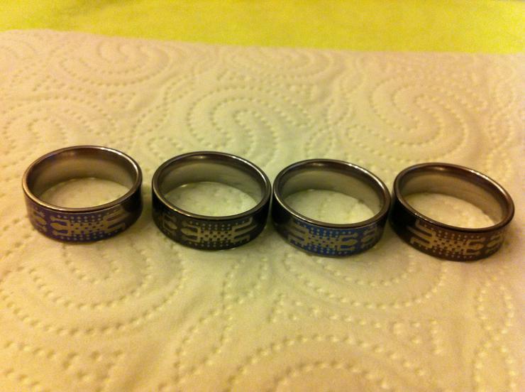 Verkaufe 4 sehr hochwertige Titanium-Ringe!!!