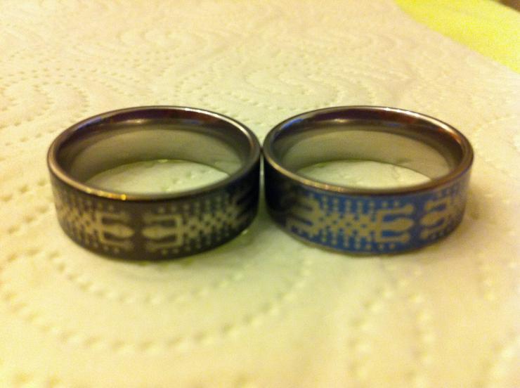 Bild 3: Verkaufe 4 sehr hochwertige Titanium-Ringe!!!