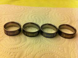 Verkaufe 4 hochwertige Titanium Ringe - Ringe - Bild 1