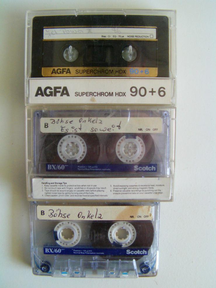 Bild 3: Audio Cassetten BASF, Sony usw. (St.)