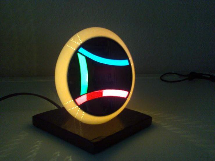 Lampe aus originalem Straußenei