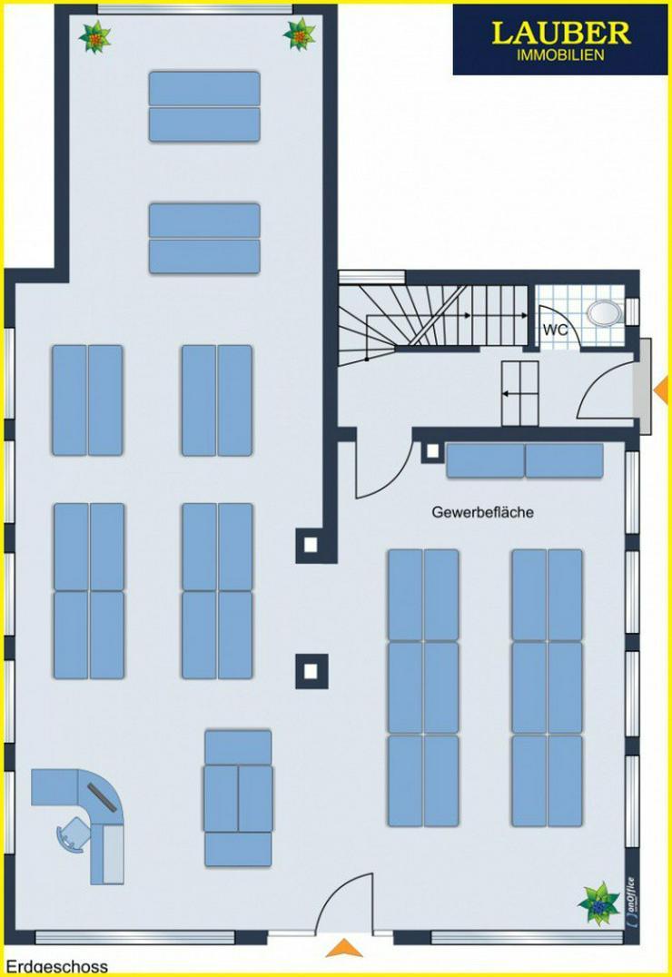 Bild 5: LAUBER IMMOBILIEN: Wohn- und Geschäftshaus mit gr. Garten in zentraler Stadtlage