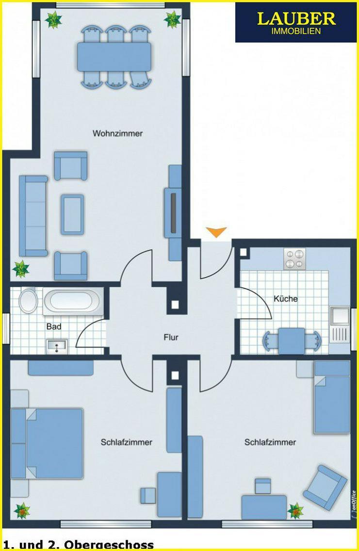 Bild 6: LAUBER IMMOBILIEN: Wohn- und Geschäftshaus mit gr. Garten in zentraler Stadtlage