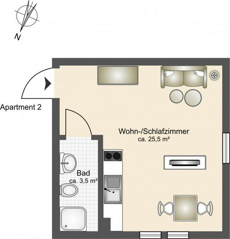 Bild 6: Wohnen im Gutshaus vor den Toren Rostocks - 7 hochwertig ausgestattete Apartments