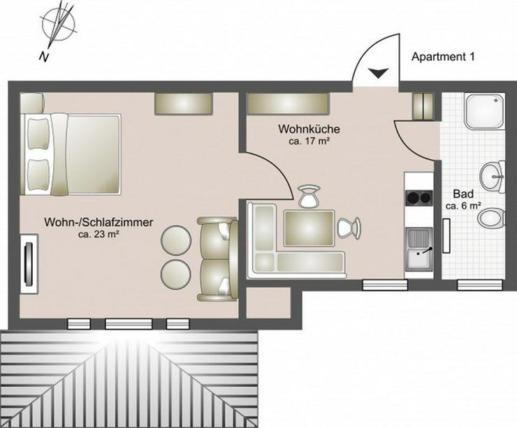 Bild 12: 7 hochwertig ausgestattete Apartments - Boardinghouse Rostock