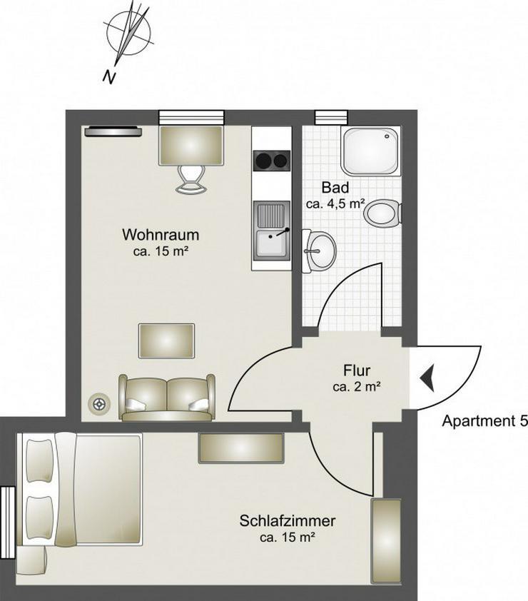 Bild 12: PROVISIONSFREI - 7 hochwertig ausgestattete Apartments - Boardinghouse Rostock
