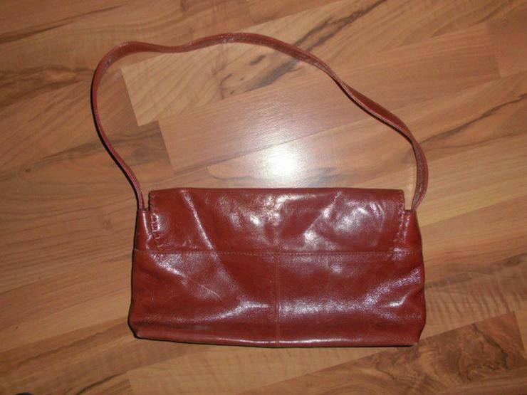 Bild 2: Hochwertige braune Leder DamenHandtasche