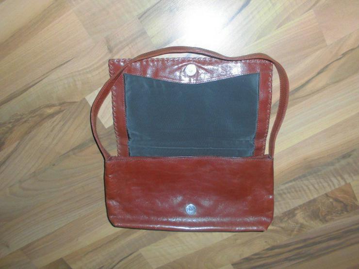 Bild 3: Hochwertige braune Leder DamenHandtasche