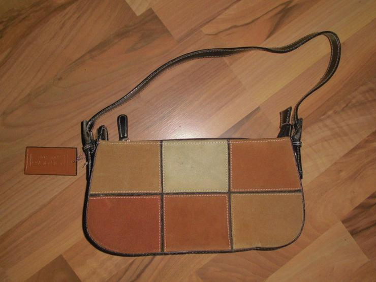 Braune Patchwork Leder Damen Handtasche