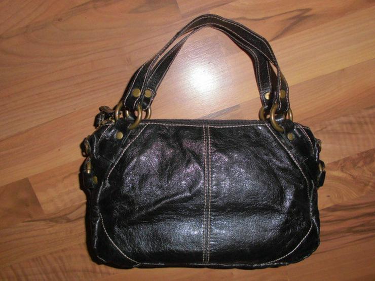 Kleine Schwarze Damen Handtasche