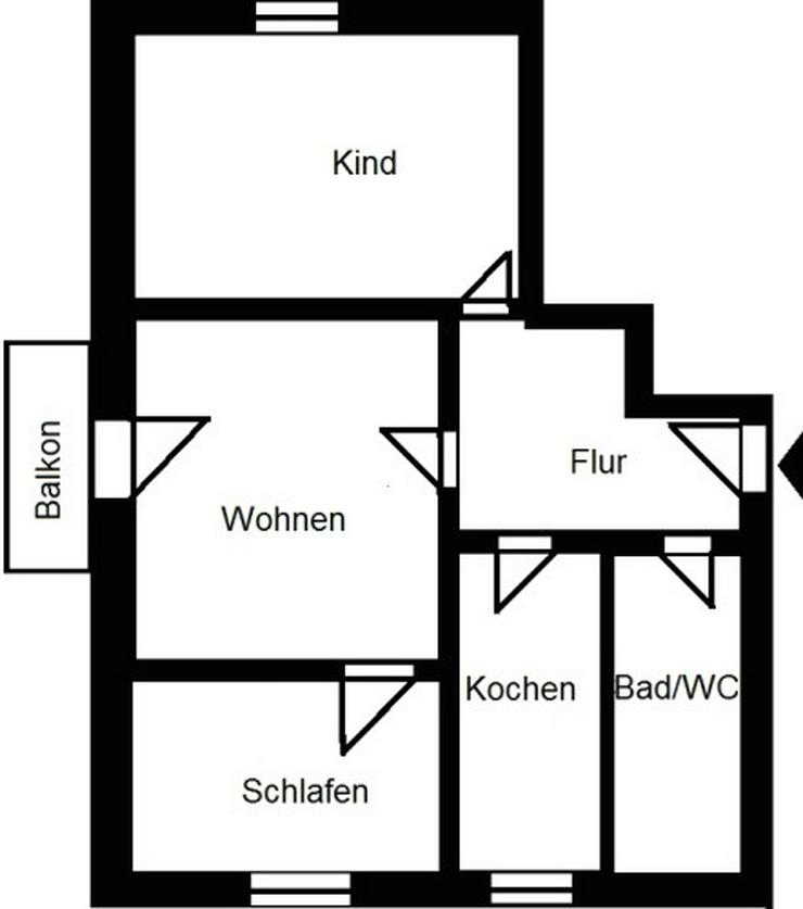 Bild 2: Kleine 3-Raum-Wohnung mit Blick ins Elbtal!