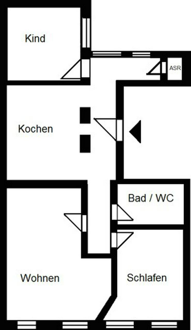 Bild 2: Möblierte 3-Raum-Wohnung im Stadtzentrum!