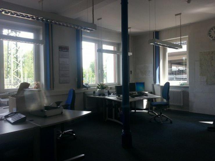 Bild 5: Büro mit Lagerhalle, Gleisanschluß