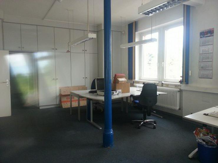 Bild 4: Büro mit Lagerhalle, Gleisanschluß