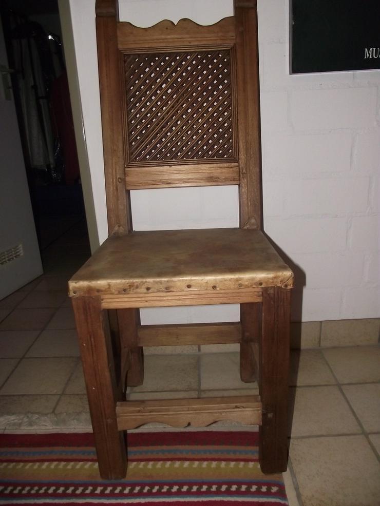 Bild 4: Kolumbianische Eiche 6 Stühle / Sessel