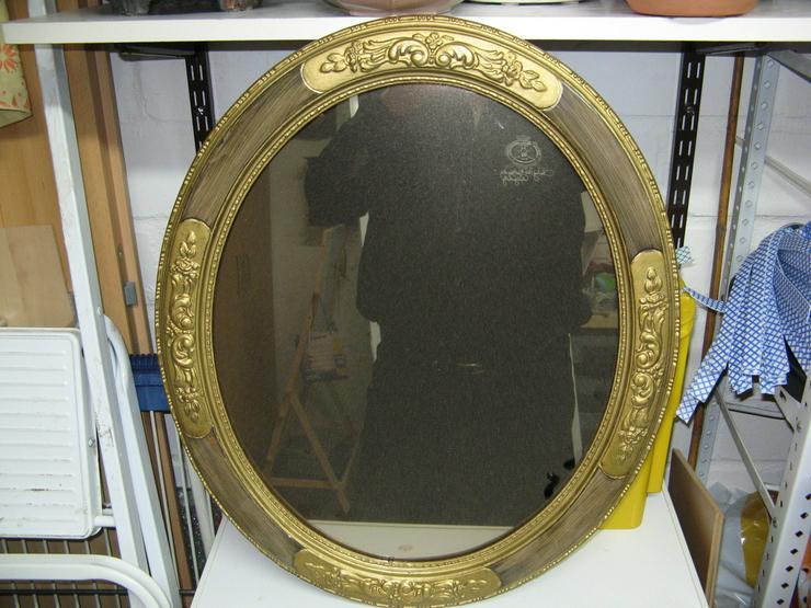 1 Spiegel in einem Antiken holz Rahmen - Spiegel & Rahmen - Bild 1