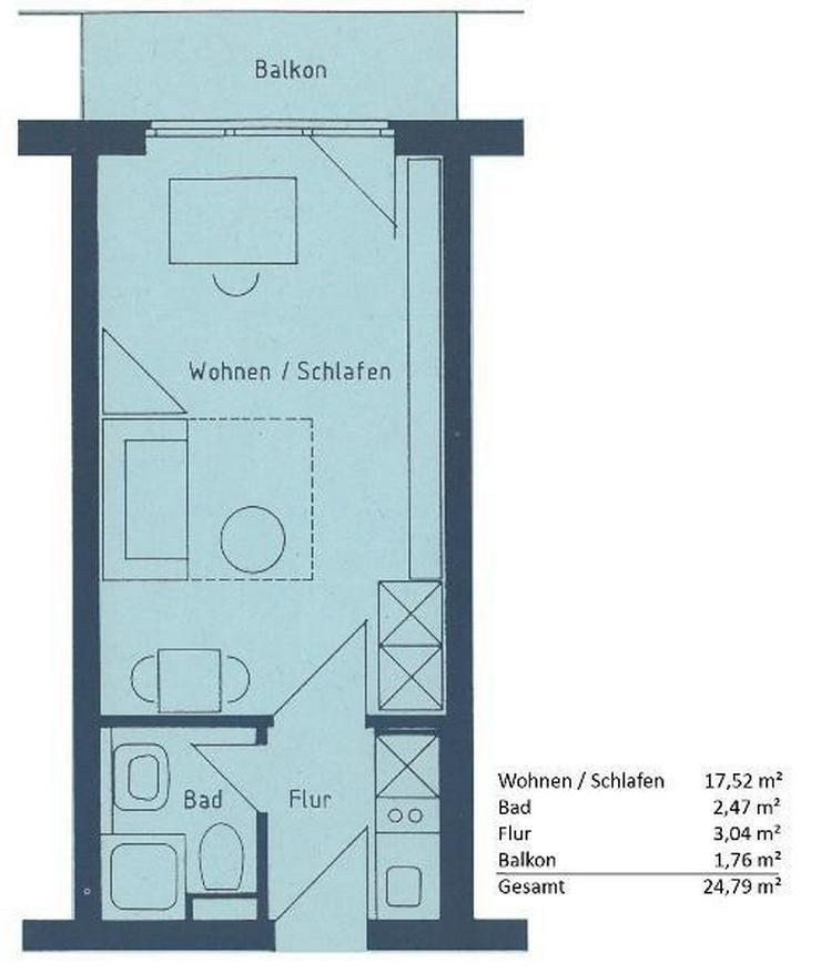 Bild 2: Appartement in Krefeld