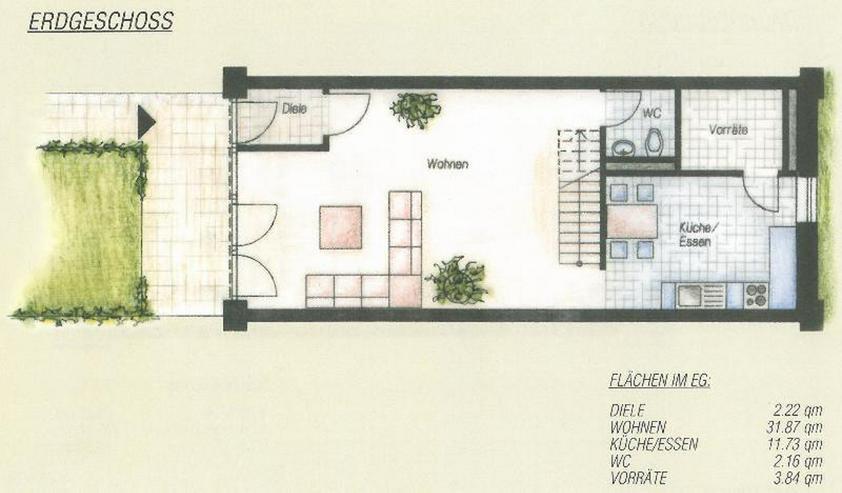 Bild 6: Sehr schöne Eigentumswohnung mit Reihenhauscharakter und eigenem Garten in romantischer H...