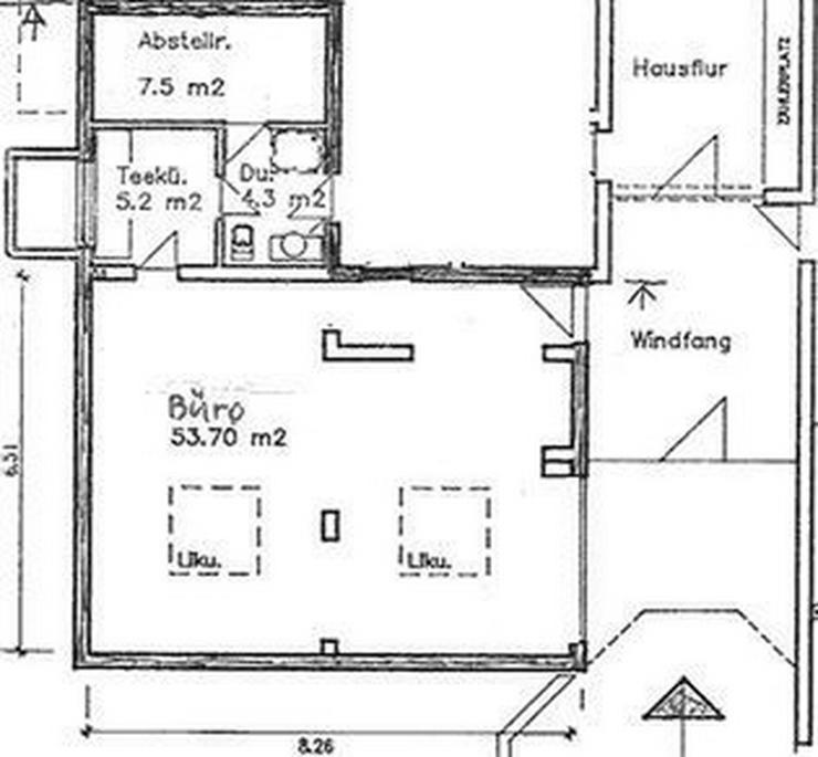 Bild 5: Stuttgart-Dachswald - Büro/Atelier ideal für Freiberufler, 70 qm Nfl.