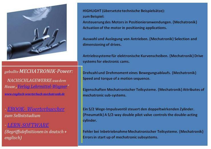 Bild 2: Mechatronik: englisch uebersetzen studieren