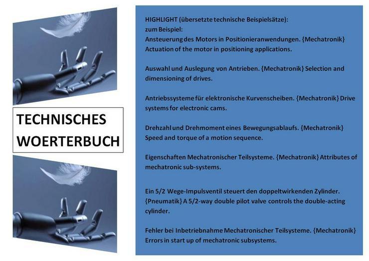 Bild 3: Mechatronik: englisch uebersetzen studieren