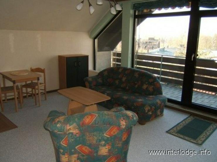 INTERLODGE Helles möbliertes Apartment mit großem, überdachten Balkon in guter Lage in ... - Wohnen auf Zeit - Bild 1