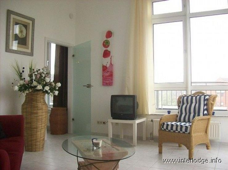 INTERLODGE Stilsicher möblierte Wohnung in Rheinnähe, mit Balkon und Aufzug in Neuss-Gri... - Wohnen auf Zeit - Bild 1