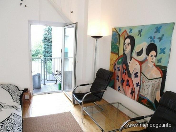 Bild 3: INTERLODGE Komplett möbliertes, helles Apartment mit Balkon in Düsseldorf-Flingern Nähe...