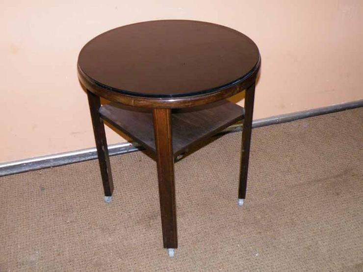 antiker runder tisch beistelltisch in massiv in zeuthen brandenburg auf. Black Bedroom Furniture Sets. Home Design Ideas
