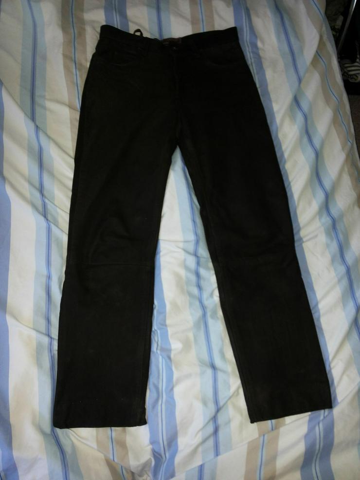 Herren-Rauhlederhose im Jeansschnitt