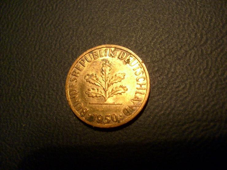 1 Pf 1950 J, fast st - Deutsche Mark - Bild 2