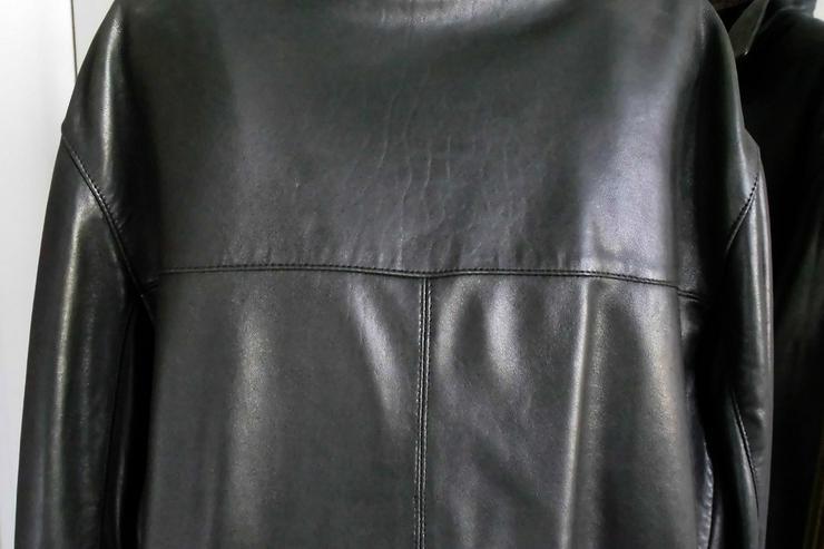 Bild 4: Lederjacke vom Mauritius,  lange Form, schwarz
