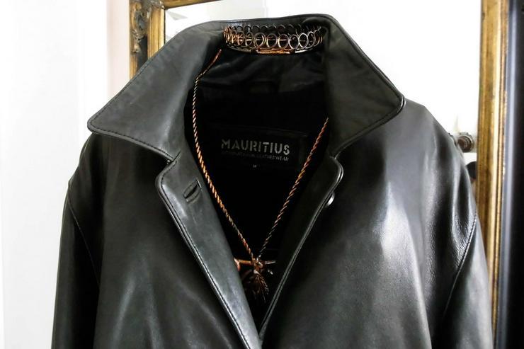 Bild 2: Lederjacke vom Mauritius,  lange Form, schwarz