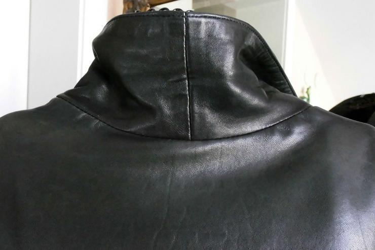 Bild 5: Lederjacke vom Mauritius,  lange Form, schwarz