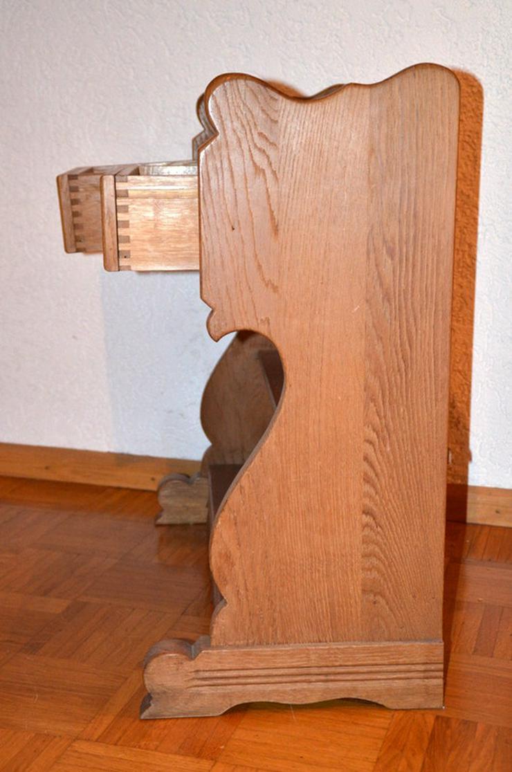 Bilder zu dielenschrank schubkasten schrank eiche massiv for Holzschrank massiv gebraucht