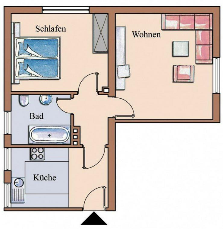 2-Zimmer-Wohnung in ruhiger Lage - Bild 1