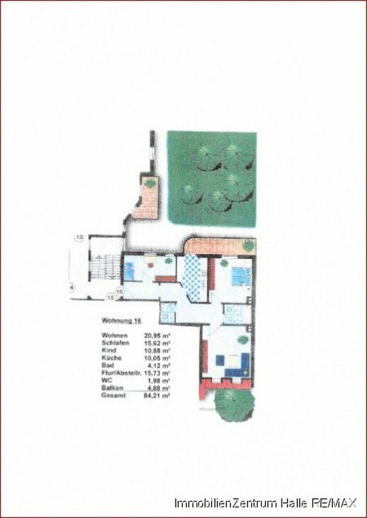 Bild 2: TOP ! 3-Raum Dachgeschosswohnung mit Balkon mitten im Paulusviertel !!!
