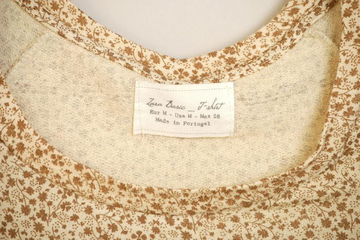 Bild 2: T-Shirt von Zara neu in beige Gr. M38