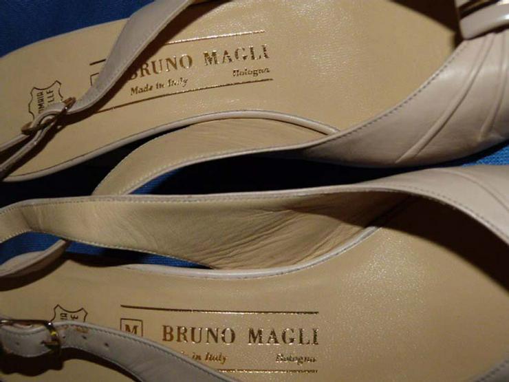Bild 5: Beigefarbene Bruno Magli Damenschuh / Ledersch