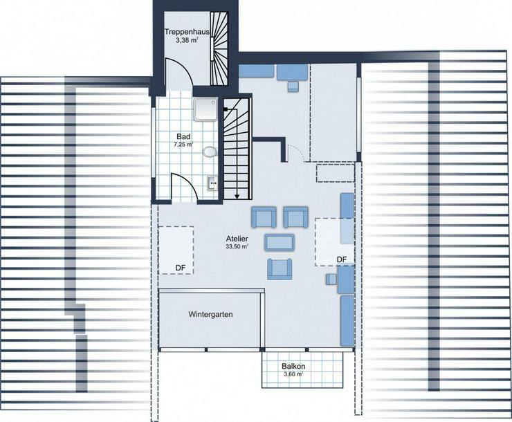 Bild 5: BEREITS 60% VERKAUFT: 4,5-Zimmer-Maisonette-Whg. + 2 Bäder + Ankleideraum + 2 Balkone