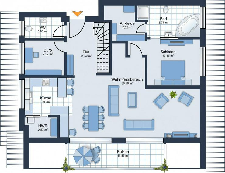 Bild 4: BEREITS 60% VERKAUFT: 4,5-Zimmer-Maisonette-Whg. + 2 Bäder + Ankleideraum + 2 Balkone